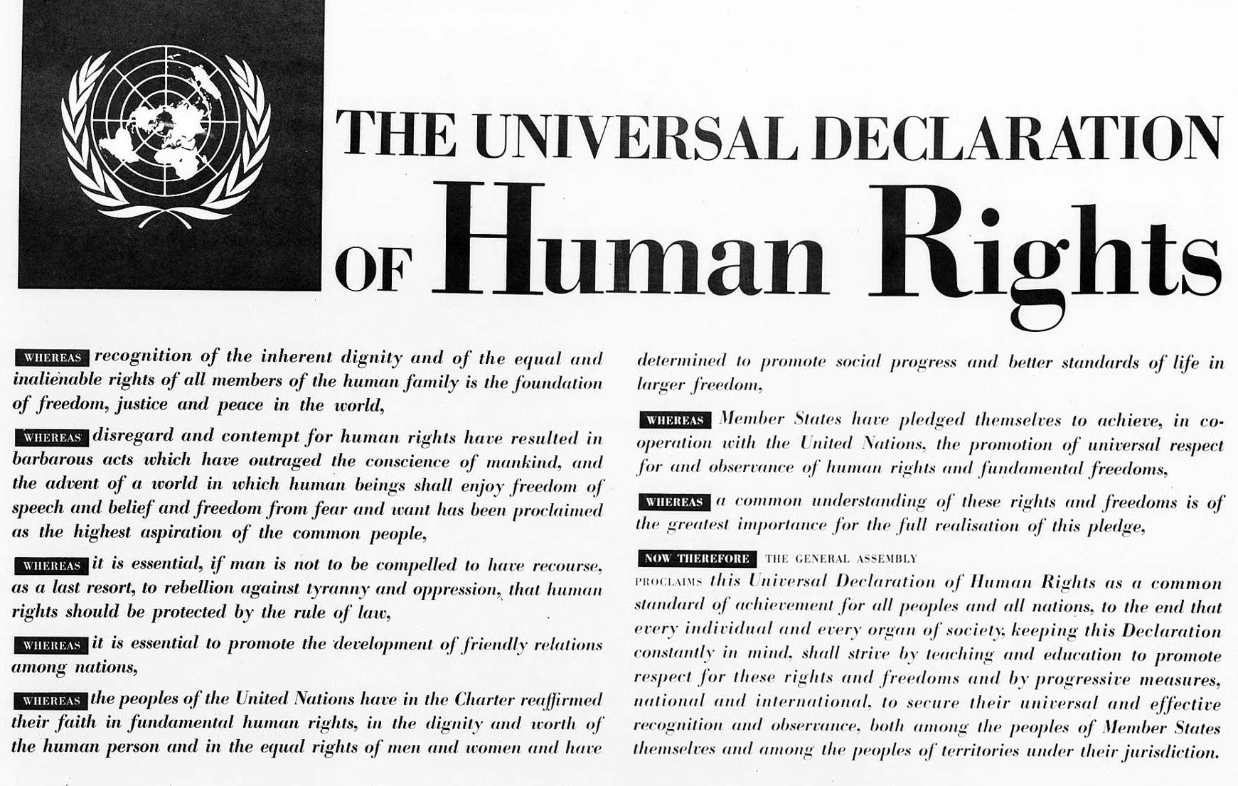 The universal declaration of human rights 10 December 1948