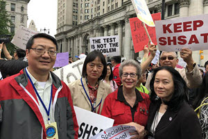 Asian Americans Protesting