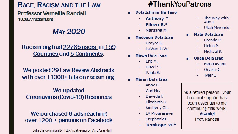 2020 05 May Thank You